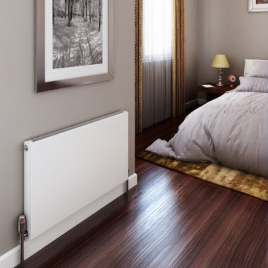 Photo of Stelrad central heating radiator in bedroom
